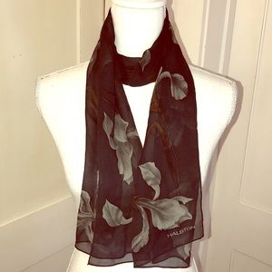 Halston Scarf with Orchid Print